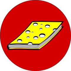 Buch mit Kochkäseeinband